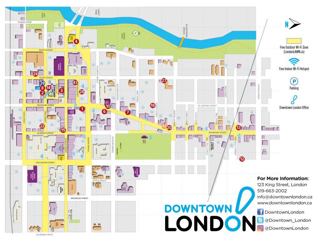 Downtown London Map.Maps London S Local Flavour